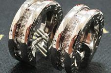 ブルガリ B-zero1 ピアス K18WG ダイヤモンド  BVLGARI ビーゼロ1中古美品買取致しました。