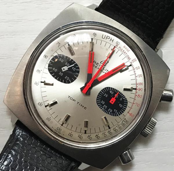 ブライトリング GENEVE ジュネーブ TOP TIME トップタイム クロノグラフ アンティーク 希少 手巻 中古 買取致しました。