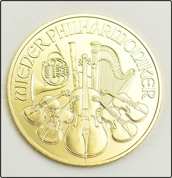 ウィーン金貨ハーモニー 1オンス 1onze 2016年 K24 24金 31.1g オーストリア 金貨 コイン ※中古 超美品買取致しました。