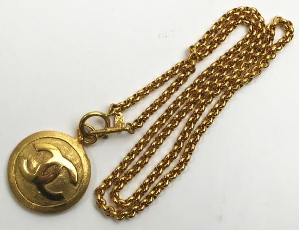 CHANEL ジャネル ヴィンテージ ロングネックレス ミラー付 ビッグココマークトップ 中古美品買取致しました。