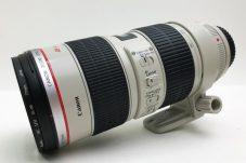 キヤノン Canon EF レンズ 70-200mm F2.8 L IS USM フード・ケース付き 美品 外観傷なし買取致しました。
