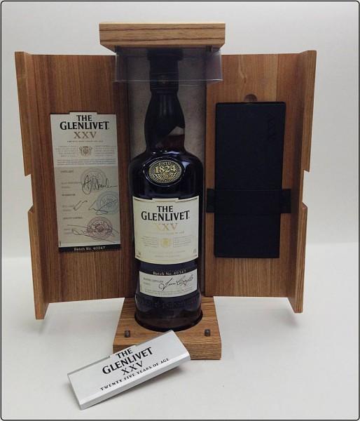 THE GLENLIVET ⅩⅩⅤ グレンリベット 25年 スコッチウイスキー 700ml アルコール ※未開栓 木箱買取致しました。