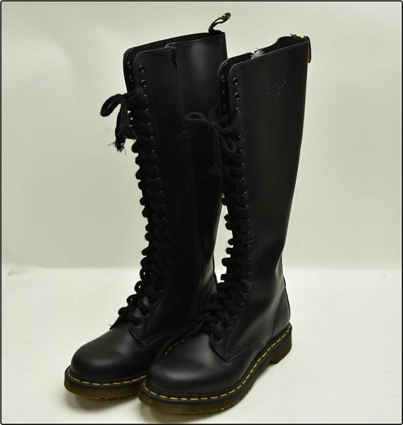 Dr.Martens ドクターマーチン 20ホール ブーツ ロング 1B60 サイズ:約 24.5cm UK:6 黒 ブラック 靴 ※中古 美品買取致しました。