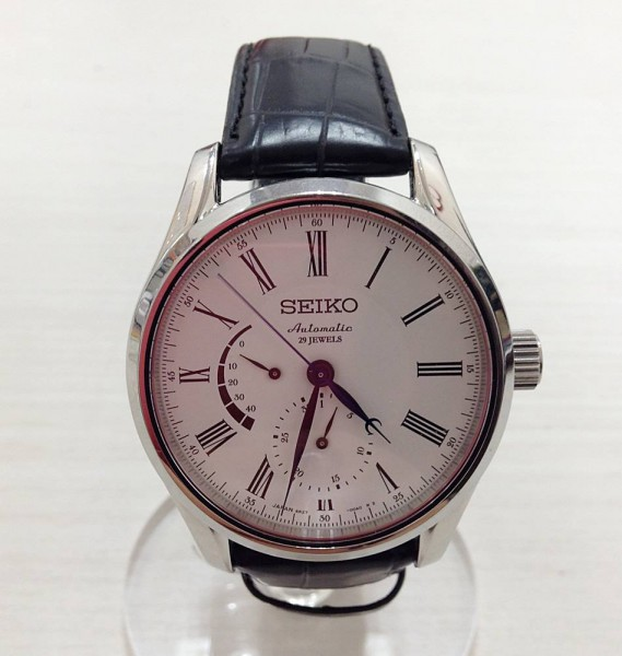 SEIKO セイコー プレサージュ SARW011 6R27-00F0 自動巻き 裏スケルトン 腕時計 2017年10月購入 保証期間長い ※中古 美品 箱付き買取致しました。
