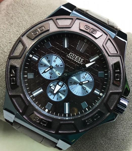GUESS ゲス 腕時計 メンズ フォース FORCE W0674G5 45mm レザーバンド 新品 保証書付 定価36720円買取致しました。