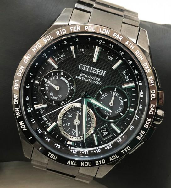 CITIZEN シチズン アテッサ エコ・ドライブ GPS衛星電波時計 CC9017-59E F900 ブラック 長期保証2020年1月まで 中古美品買取致しました。