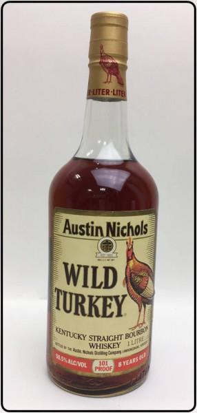 古酒!希少!旧ラベル WILD TURKEY ワイルドターキー 101PROOF 8年 1000ml 買取致しました。