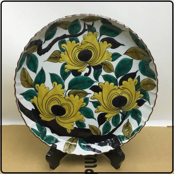 未使用保管品!加州山代窯 九谷美陶園 飾皿 牡丹文八寸飾皿買取致しました。