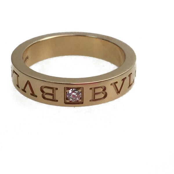 ブルガリ・ブルガリ リング 指輪 18K ピンクゴールド ダイヤモンド 約11.5号※箱・品質証明書・他有り 買取致しました。