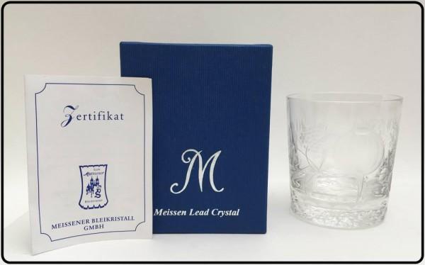 中古美品!Meissen マイセン ロックグラス 花柄 箱付き 買取致しました。