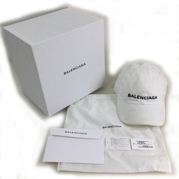 バレンシアガ キャップ ロゴ刺繍 帽子 452245 452B4 イタリア製 コットン100% 買取致しました。
