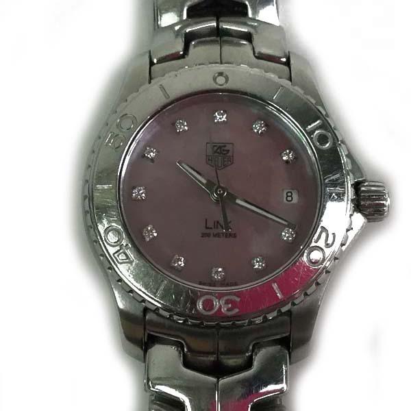 タグホイヤー TAG HEUER 腕時計 リンク WJ131C 腕回り約15.5cm クオーツ ピンクシェル文字盤買取致しました。