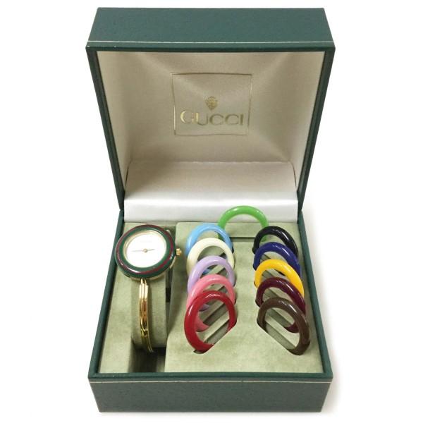GUCCI グッチ 腕時計 着せ替え時計 チェンジベゼル クォーツ 11/12.2 ゴールド 買取致しました。