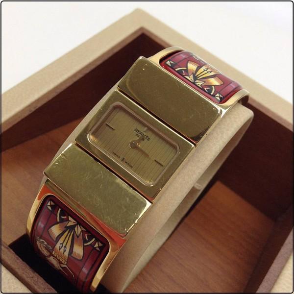 HERMES エルメス ロケ エマイユ バングルウォッチ L01.201 買取致しました。
