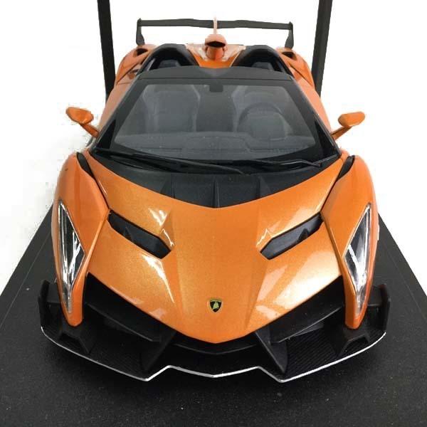 京商 ランボルギーニ ヴェネーノ ロードスター オレンジ/ホワイトライン 買取致しました。