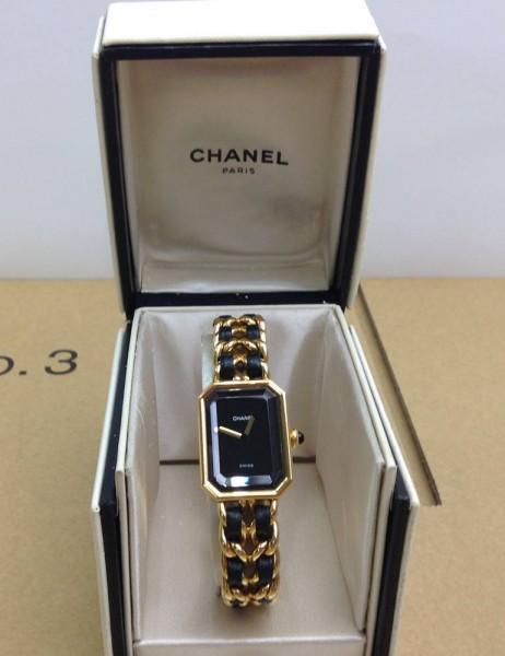 CHANEL レディースクオーツ腕時計 プルミエール Lサイズ 買取致しました。