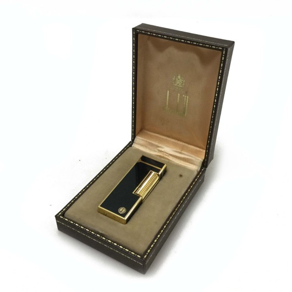dunhill ダンヒル ガスライター ブラック×ゴールド 喫煙用品 ブランド品 ケース有り買取致しました。