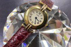 Cartier カルティエ 腕時計 VERMEIL ヴェルメイユ 925 クォーツ ゴールド クロコダイルレザーベルト 買取致しました。