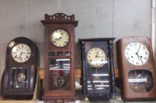 土岐市のお客様より ゼンマイ式 柱時計 お売り頂きました。
