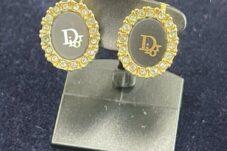 土岐市のお客様よりディオール Dior イヤリング ヴィンテージ ゴールド×ブラック買取致しました。