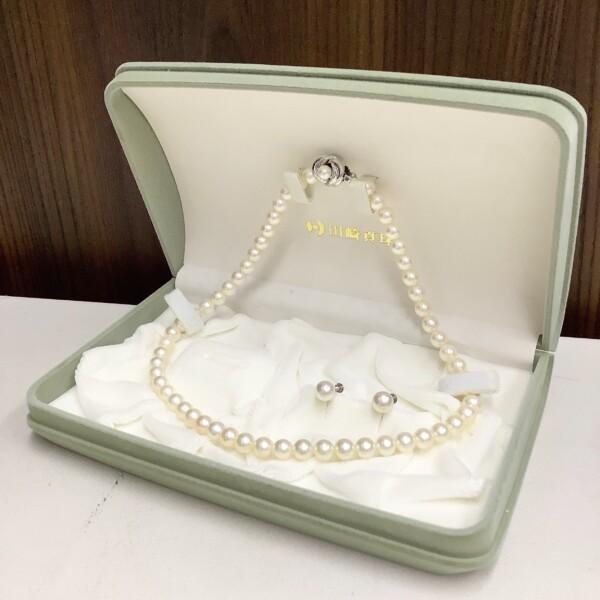 田崎真珠 パール アコヤ真珠 ネックレス イヤリング セット 買取致しました。