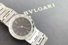BVLGARI 腕時計 ブルガリブルガリ BB30SS クオーツ 黒文字盤 買取致しました。